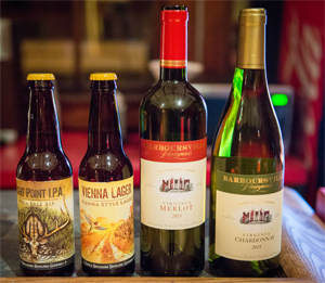 The bistro offers a variety of local wines and craft beers.