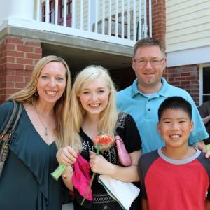 The Burton Family: Natalia, James, Kaitlin, & Kaleb