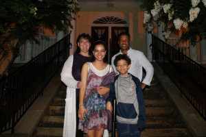 The Harris Family: Sharon, Carter, Jessica, & Joshua