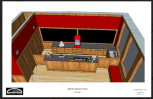 architect's rendering of Bistro.